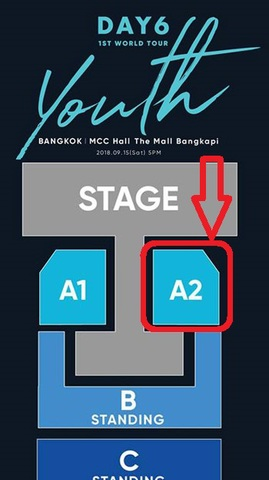 【最高額席A2】DAY6 タイバンコク公演