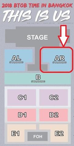 【スタンディング AR】BTOB コンサート タイバンコク公演