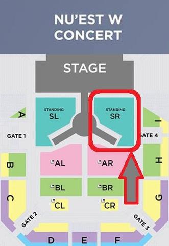 【スタンディング SR】NU'EST W CONCERT タイバンコク公演