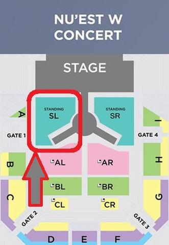 【スタンディング SL】NU'EST W CONCERT タイバンコク公演