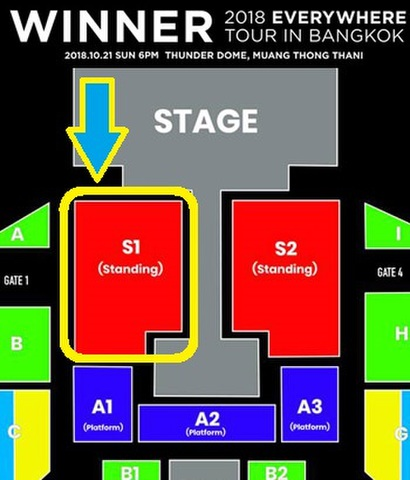 10月21日(日)【スタンディング S1】WINNER タイバンコク公演