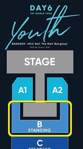 【アリーナスタンディング B】DAY6 タイバンコク公演