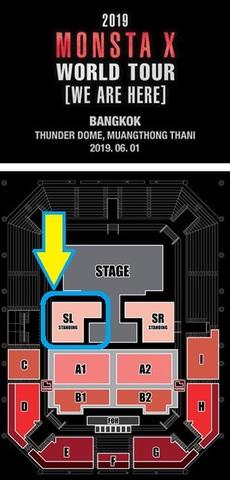 【スタンディングSL】MONSTA X  タイバンコク公演