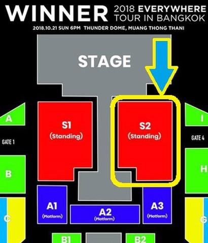 10月21日(日)【スタンディング S2】WINNER タイバンコク公演