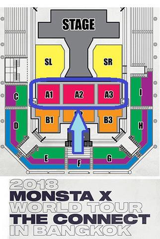 B.特別手配【最高額指定シート席】MONSTA X 2018 タイバンコク公演