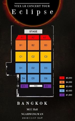 【次価格指定席B1-B3】VIXX LR コンサート タイ・バンコク公演