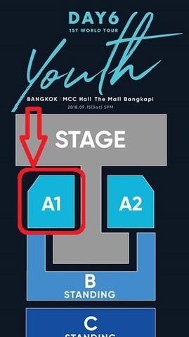 【最高額席A1】DAY6 タイバンコク公演
