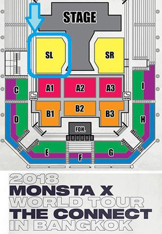 【アリーナスタンディングSL】MONSTA X 2018 タイバンコク公演