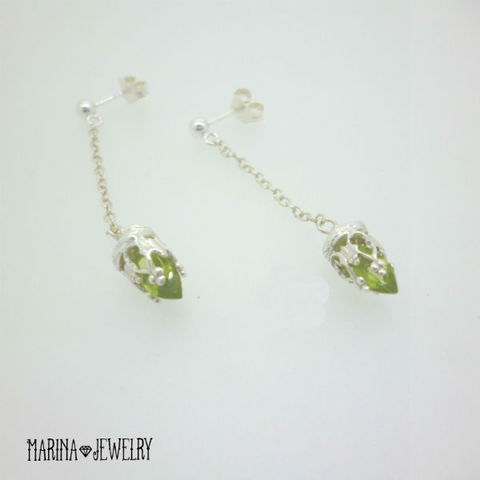 chandelier peridot - silver -