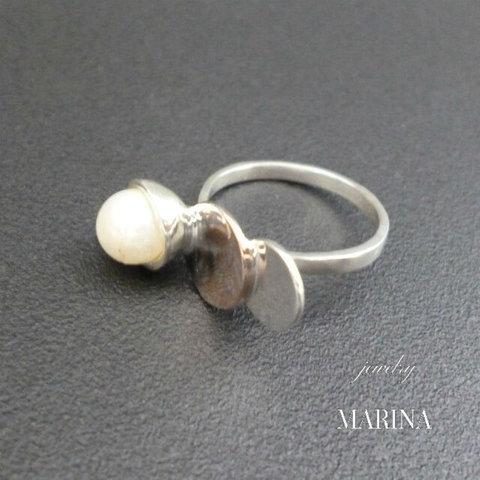 ZEBRA - ring pearl #3