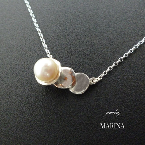 ZEBRA - necklace pearl