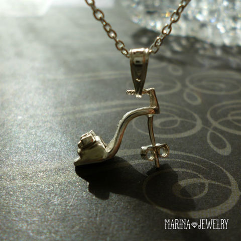 シンデレラの靴のネックレス - silver -