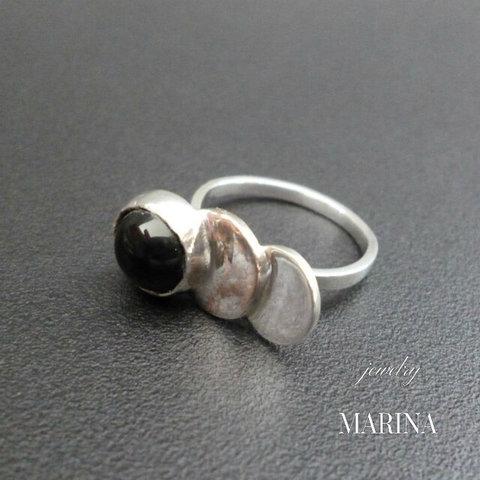 ZEBRA - ring onyx