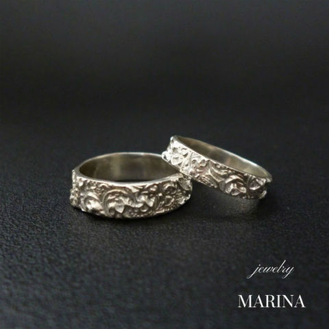 Marie set of rings ペアリング - 3mm/5mm