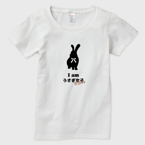 Iamうさぎ女子BBA 半袖Tシャツ レディース