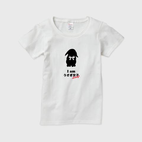 Iamうさぎ女子@ロップイヤー 半袖Tシャツ レディース