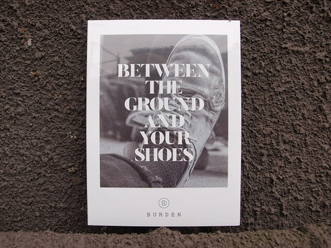 "burden""BETWEEN THE GROUND AND YOUR SHOES"" DVD"