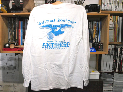 IGNITION SKATESHOP 1-8 SUPPORT L/S TEE white