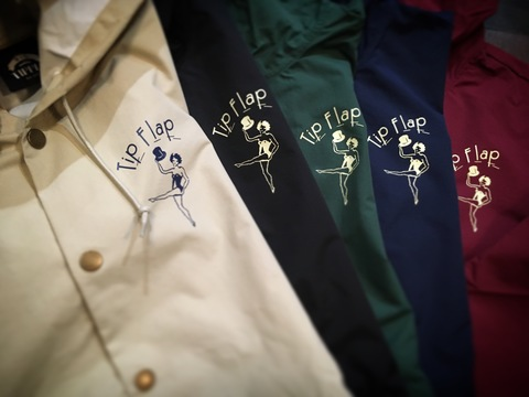 "【TIPPLE BLAND】 ""tip flap""Hooded Coach Jacket"