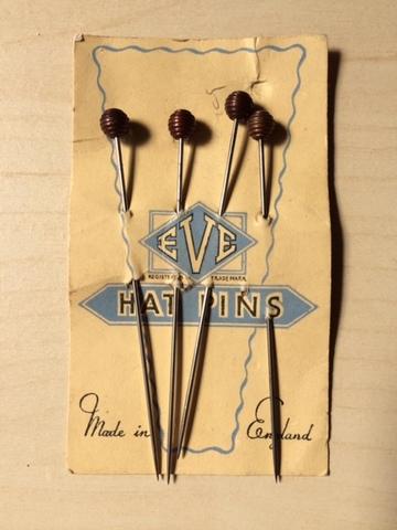 VINTAGE 30's HAT PIN 4本set