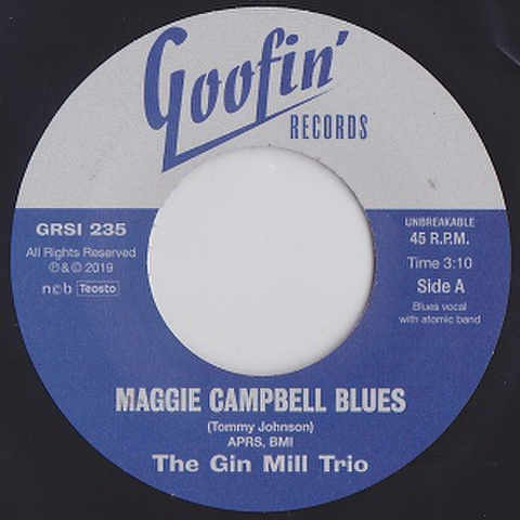 """THE GIN MILL TRIO/Where Can She Be ? (7"""")"""