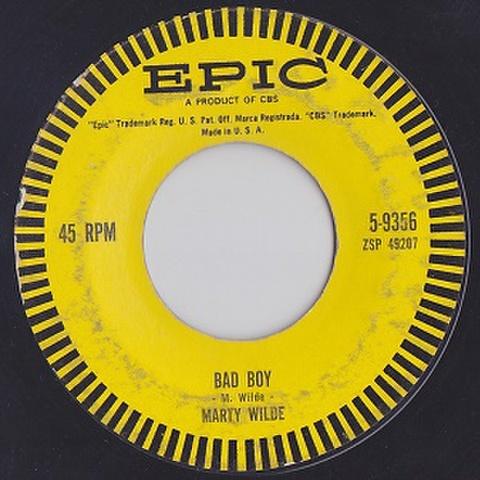 """MARTY WILDE/Bad Boy(中古7"""")"""