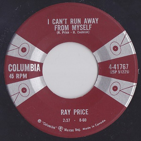 """RAY PRICE/I Can't Run Away From My Self(中古7"""")"""