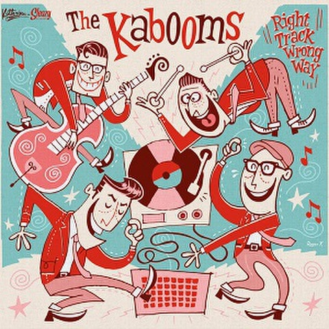 """THE KABOOMS/Right Track, Wrong Way(10"""")"""