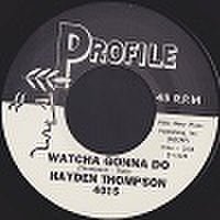 "HAYDEN THOMPSON/Watcha Gonna Do(7"")"