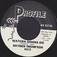 """HAYDEN THOMPSON/Watcha Gonna Do(7"""")"""