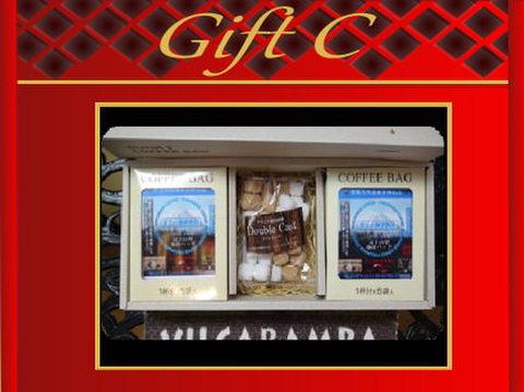 富士山型コーヒーバッグ(10包入)+角砂糖(110g)Cギフト