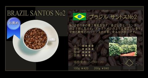 ブラジル サントス ( 200g )