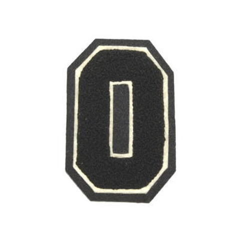 シニール3inch角型「O」黒/白/黒 ランクC
