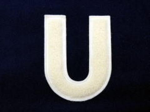 シニール4inch丸型「U」オフ白/オフ白/- ランクA