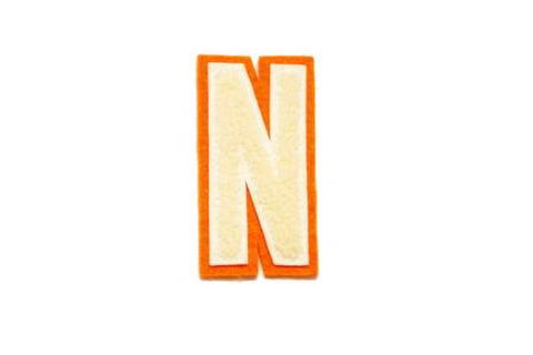 シニール3inch細丸型「N」オフ白/オフ白/オレンジ ランクB