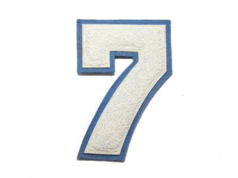 シニール4inch丸型「7」オフ白/オフ白/ブルーグレー ランクB