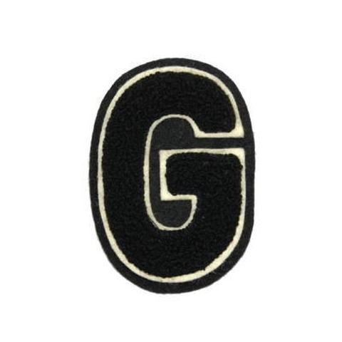 シニール3inch丸型「G」黒/白/黒 ランクC