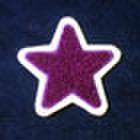 """シニール2inch「""""★型""""」紫/白/- ランク新品"""