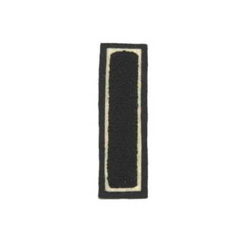 シニール3inch角型「I」黒/白/黒 ランクC