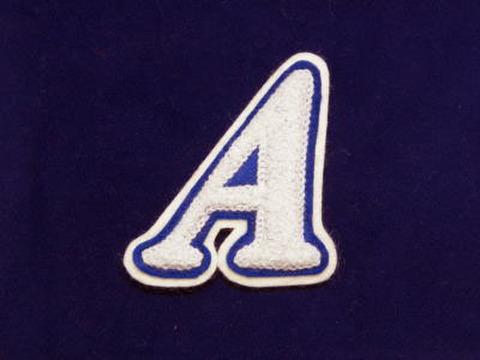 シニール3inch斜字「A」白/青/白 ランクA
