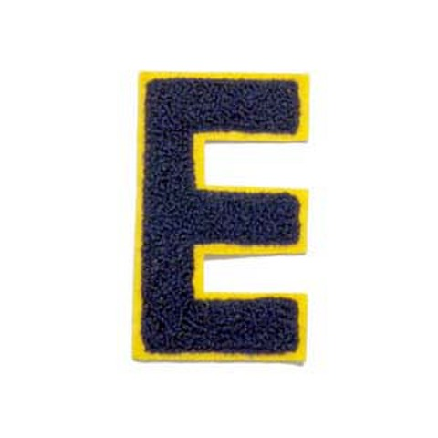 シニール3inch角型「E」紺/黄/- ランクB