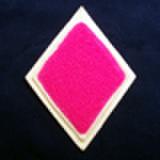 シニール3inchダイヤ型:ピンク/オフ白/オフ白 ランク:B