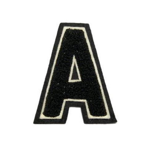 シニール3inch角型「A」黒/白/黒 ランクC