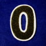シニール3inch丸型「0」濃緑/白/- ランクC