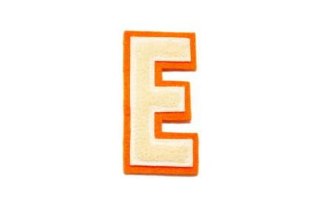 シニール3inch細丸型「E」オフ白/オフ白/オレンジ ランクB