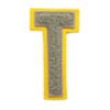 シニール3inch「T」グレー/グレー/レモン ランクA