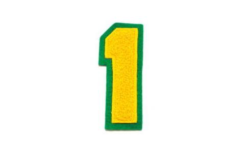 シニール3inch角型「1」濃黄/濃黄/緑 ランクA