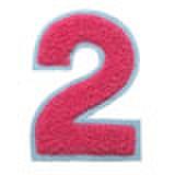 シニール3inch丸型「2」濃ピンク/サックス/― ランク新品