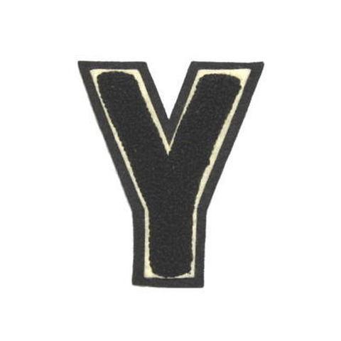 シニール3inch角型「Y」黒/白/黒 ランクC