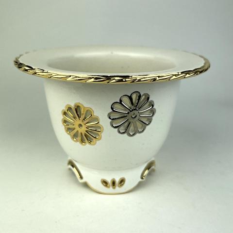 天山工房制作 菊花紋富貴蘭鉢